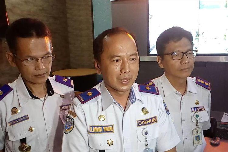 Kepala Dinas Perhubungan Depok, Dadang Wihana di Kantor Dinas Perhubungan Depok, Kalimulya, Depok, Selasa (16/7/2019).