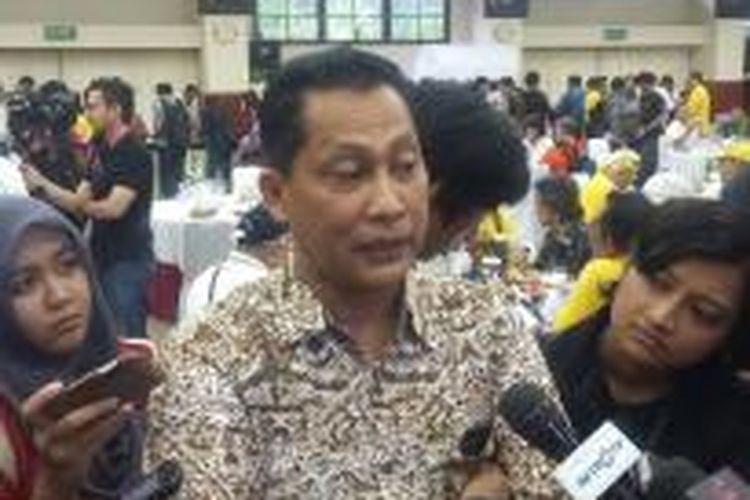 Kepala Bareskrim Polri Komjen Budi Waseso saat ditemui di Ruang Rapat Utama Mabes Polri, Minggu (22/2/2015).