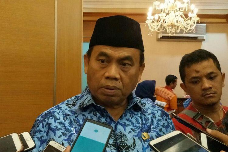 Sekretaris Daerah DKI Jakarta Saefullah di Balai Kota DKI Jakarta, Jalan Medan Merdeka Selatan, Senin (1/10/2018).