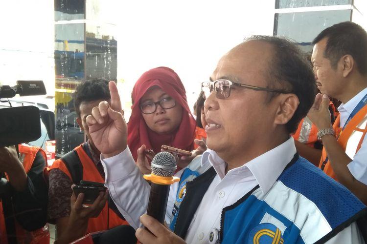 Direktur Operasi II Jasa Marga Subakti Syukur saat ditemui awak media di Kantor Cabang Jasa Marga Jakarta-Cikampek, Rabu (11/04/2018).