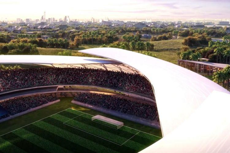 Stadion yang dirancang bagi markas Inter Miami.