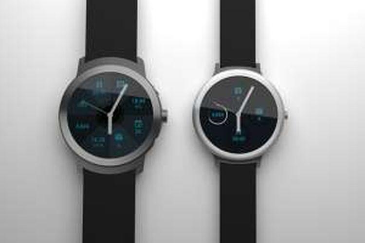 Render grafis smartwatch Angelfish dan Swordfish buatan Google.