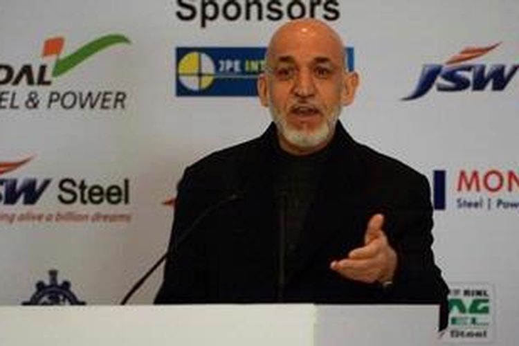Presiden Afganistan, Hamid Karzai.