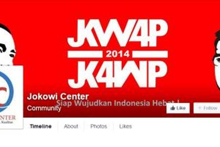 Laman Jokowi Center di Facebook.