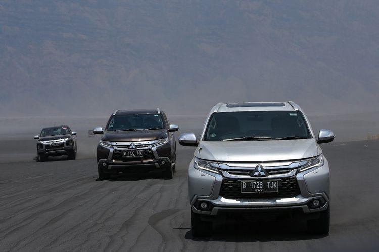 Ekspedisi Jejak Pendaki Semeru juga menjadi ajang pembuktian produk Mitsubishi Pajero Sport dan Triton melewati beragam jenis jalan di wilayah pegunungan Bromo