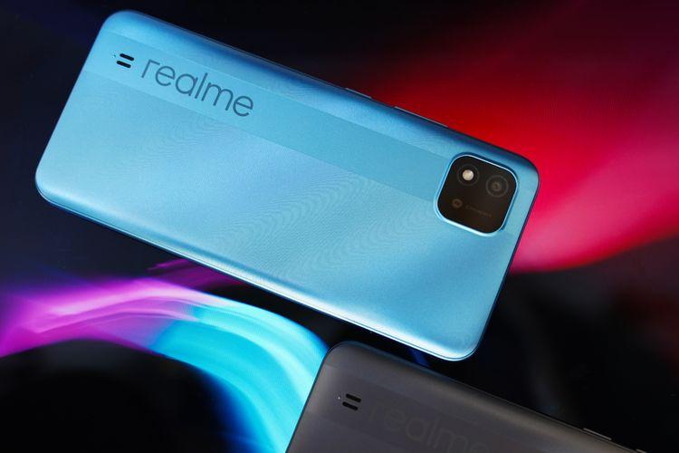 Realme C11 (2021) varian warna Lake Blue