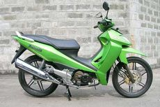 Kawasaki ZX130, Motor Bebek dengan Tangki Bensin di Depan