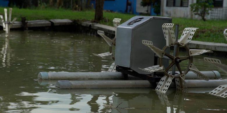 Invoasi kincir air yang dikembangkan oleh Politeknik Kelautan dan Perikanan (Poltek KP), Jawa Timur (Jatim).