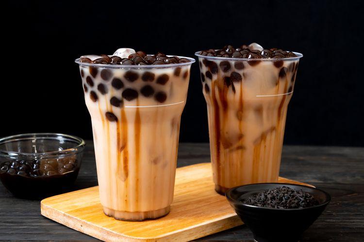 Ilustrasi bubble milk tea