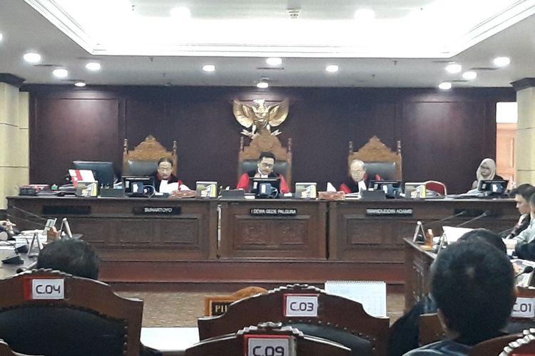 Sidang Sengketa Hasil Pileg di Mahkamah Konstitusi (MK), Jakarta Pusat, Kamis (18/7/2019).