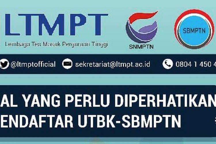 Informasi UTBK-SBMPTN 2020.