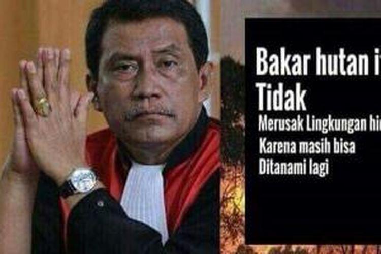 Meme Ketua Majelis Hakim PN Palembang, Parlas Nababan.