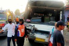 Dihantam Bus yang Tertabrak Kereta, Seorang Pesepeda Tewas