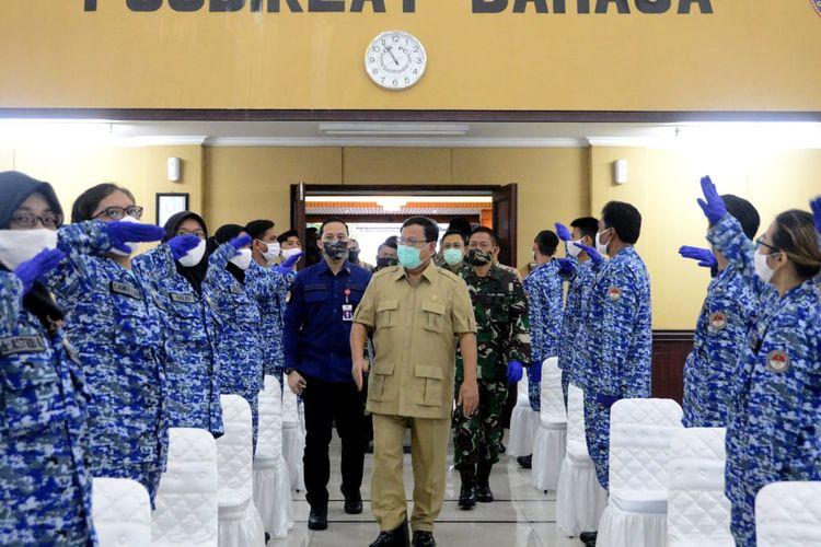 Menteri Pertahanan (Menhan) Prabowo Subianto membentuk Komponen pendukung (Komduk) Pertahanan Negara Bidang Kesehatan untuk percepatan dan penanganan Covid-19.