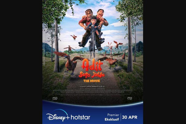 Film Animasi Adit Sopo Jarwo: The Movie (2021).