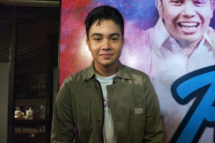 Umay Shahab saat ditemui usai jumpa pers peluncuran poster dan trailer film Rompis di kawasan Gondangdia, Jakarta Pusat, Jumat (20/7/2018).