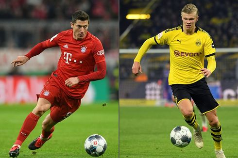 Jadi Mesin Gol Bayern Muenchen, Lewandowski Disebut Gila oleh Erling Haaland
