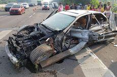 Terjadi Lagi di Tol Jagorawi, BMW Ngebut, Hilang Kendali dan Tabrakan