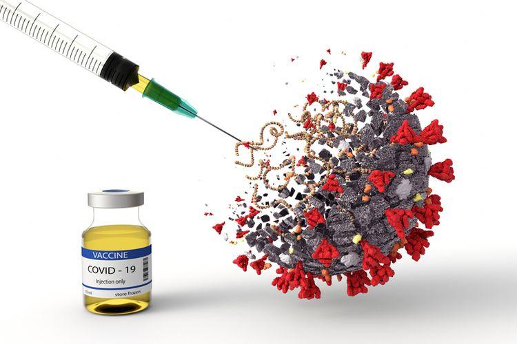 Ilustrasi vaksin corona, uji coba vaksin Oxford, Inggris, kembali dilanjukan setelah sepekan dihentikan karena salah satu relawan sakit.