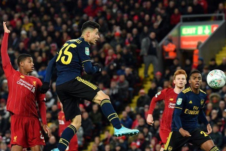 Duel Liverpool vs Arsenal di Stadion Anfield terjadi pada babak ke-4 Piala Liga Inggris atau Carabao Cup, 30 Oktober 2019.