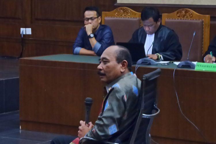 Kepala Badan Keamanan Laut (Bakamla) Laksamana Madya Arie Soedewo bersaksi di Pengadilan Tipikor Jakarta, Rabu (26/4/2017).
