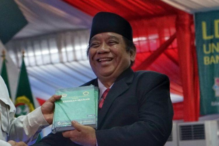Ketua Umum Lembaga Dakwah Islam Indonesia (LDII) Abdullah Syam saat menghadiri Rapat Kerja Nasional (Rakernas) LDII di Pondok Pesantren Minhajurrosyidin Pondok Gede, Jakarta Timur, Kamis (11/10/2018).