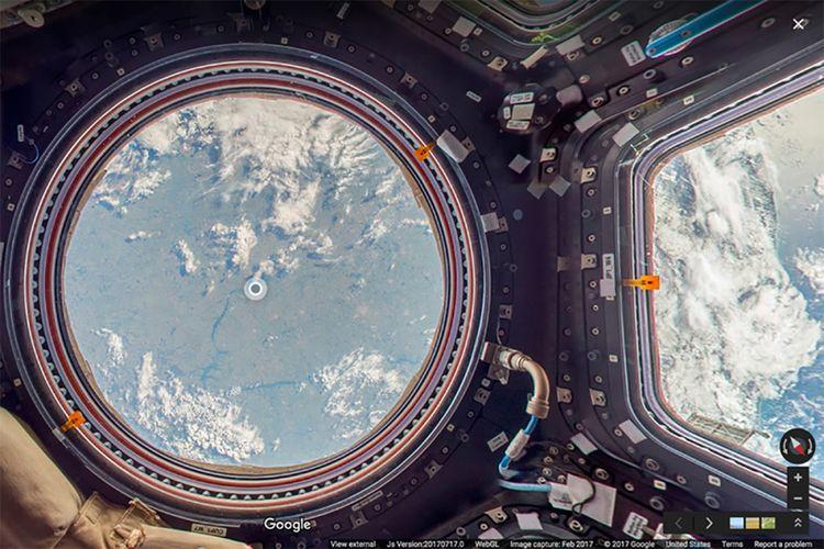 Salah satu sudut International Space Station yang bisa dikunjungi dengan Google Street View.