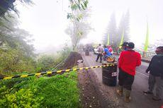 Hujan Deras, Bahu Jalan di Bangli Jebol, 1 Motor Tertimbun