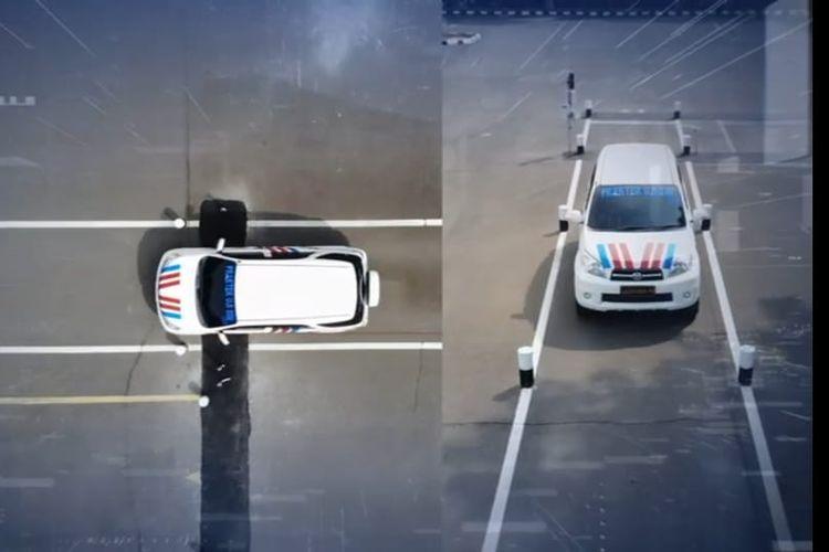 Ilustrasi ujian praktik SIM A dan C menggunakan sistem e-Drives
