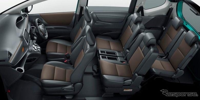 Ilustrasi ruang kabin Toyota Sienta versi JDM
