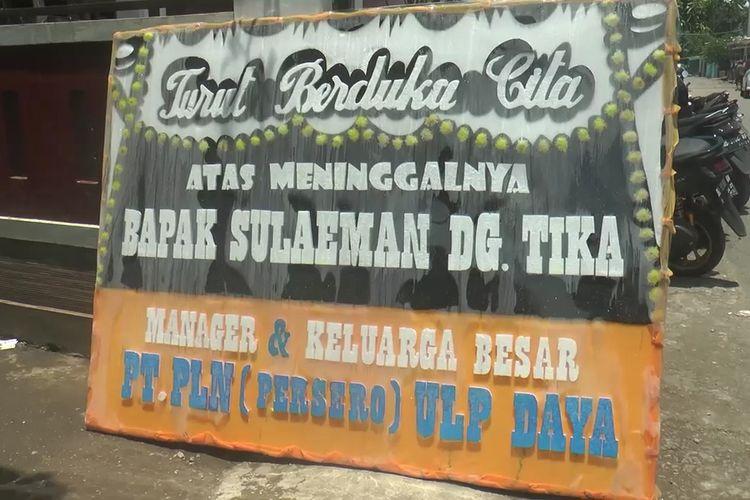 Suasana rumah duka meninggalnya Sulaeman Daeng Tika (50) usai menjalani vaksin covid-19 di Desa Batu Batu, Kecamatan Galesong Utara, Kabupaten Takalar, Sulawesi Selatan. Selasa, (23/3/2021).
