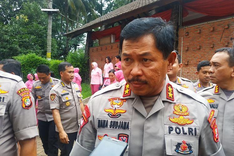 Irjen Nana Sudjana saat masih menjabat Kapolda Metro Jaya, di Hotel Bumi Wiyata, Depok, Jawa Barat, Kamis (13/2/2020).