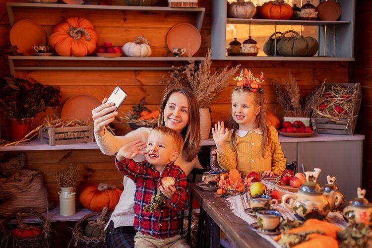 Ilustrasi perayaan Thanksgiving.