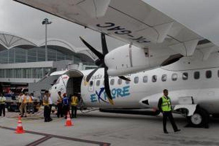 Pesawat ATR 72-600 Garuda Indonesia.
