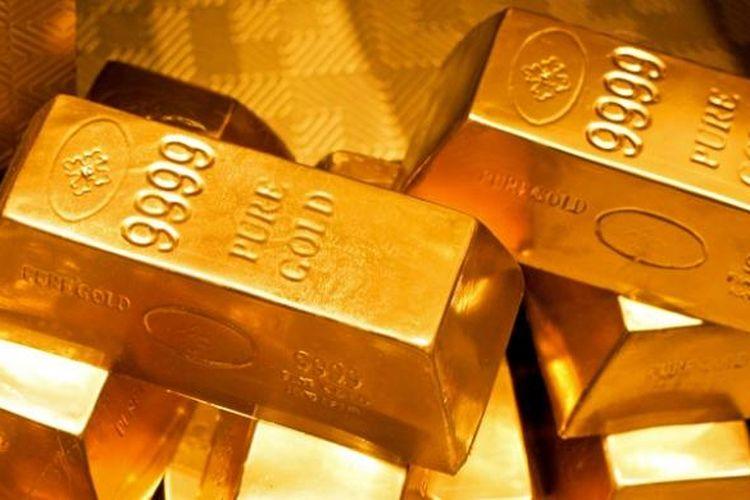 Ilutrasi emas batangan