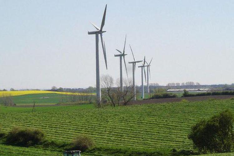 Pembangkit listrik tenaga angin.