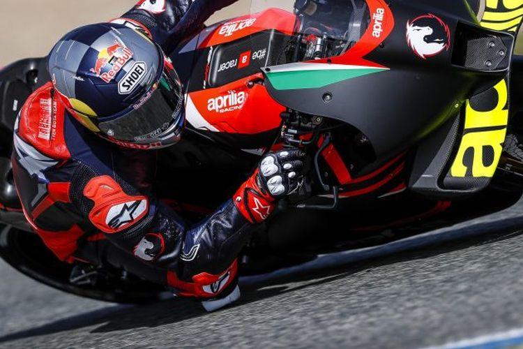 Andrea Dovizioso jajal Aprilia RS-GP