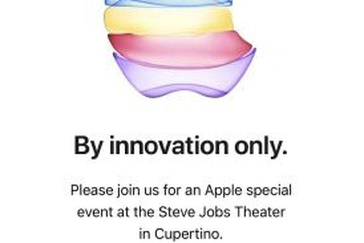 Ilustrasi undangan peluncuran produk iPhone terbaru. Diduga kuat iPhone 11 bakal meluncur di tanggal ini.