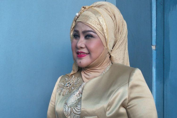 Elvy Sukaesih dijumpai di Studio TransTV, Mampang, Jakarta Selatan, Senin (26/3/2018).