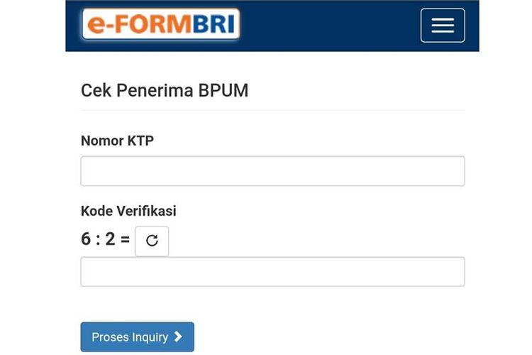 Akses e-form BRI UMKM 2021 Tahap 3, eform bri tahap 3, eform.bri.co.id/bpum.