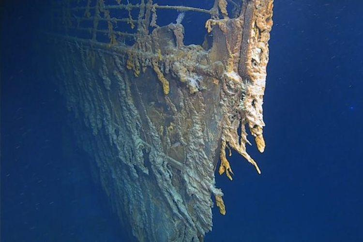 Penampakan terkini Titanic, hampir habis dilahap bakteri pemakan logam.
