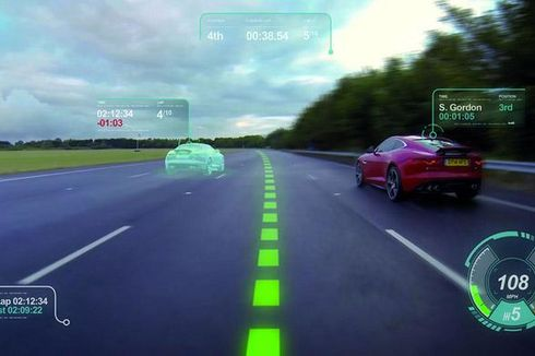 """Layar Virtual"" di Kaca Garapan Jaguar Land Rover"
