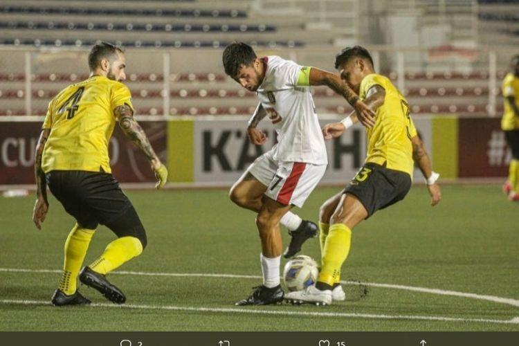 Laga antara Ceres FC vs Bali United pada matchday ketiga Piala AFC 2020 di Stadion Rizal Memorial, Filipina, Rabu (11/3/2020).