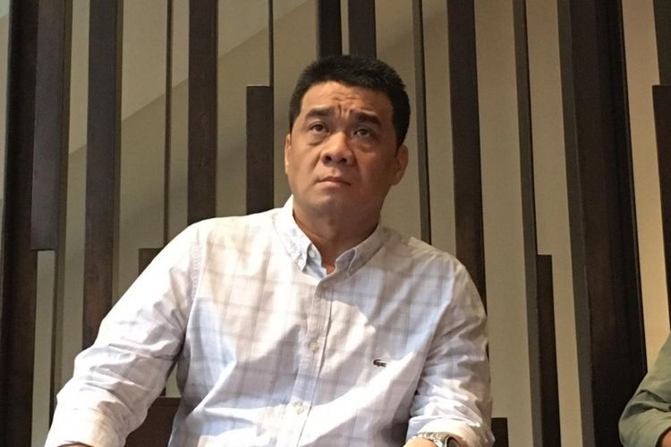 Calon wakil gubernur (cawagub) DKI Jakarta dari Partai Gerindra Ahmad Riza Patria di kawasan Kebon Sirih, Jakarta Pusat, Jumat (31/1/2020).