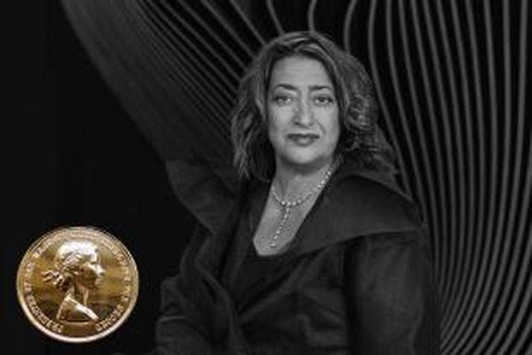 Zaha Hadid, seorang arsitek yang lahir di Baghdad pada tahun 1950, menjadi wanita pertama pemenang RIBA Royal Gold Medal.