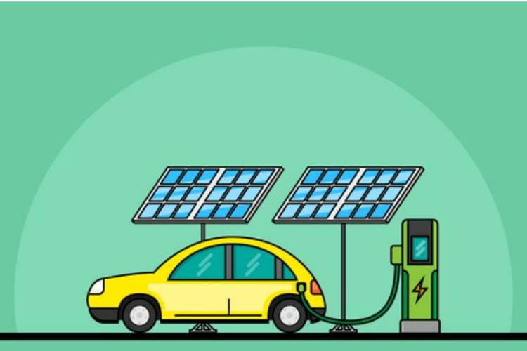 Ilustrasi kendaraan tenaga surya