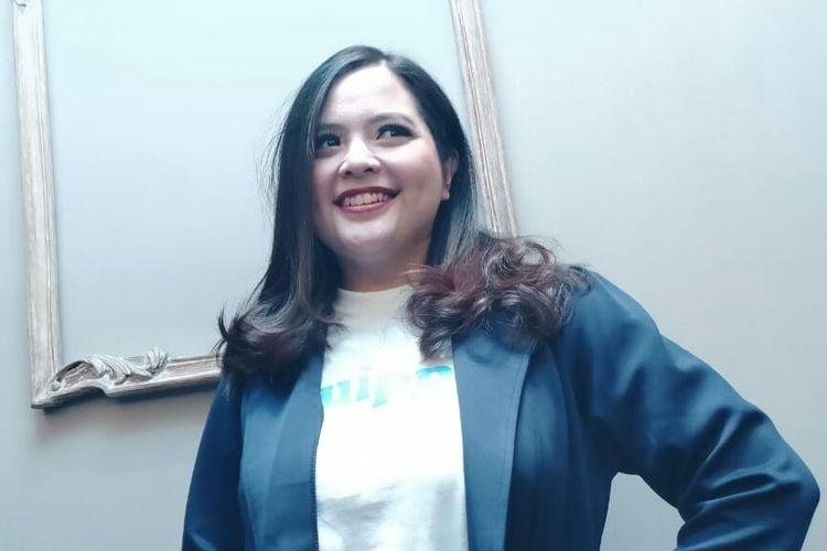Tasya Kamila usai menghadiri acara di kawasan Kuningan, Jakarta Selatan, Selasa (28/1/2020)