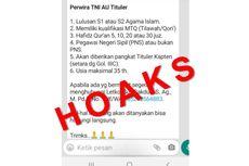 [HOAKS] Rekrutmen Perwira TNI AU Tituler 2021