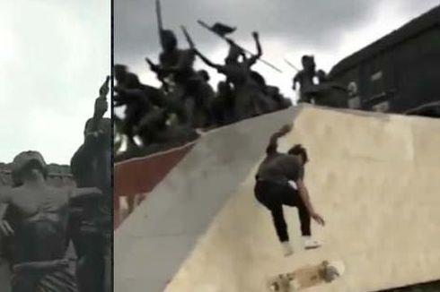 Video Viral Remaja Bermain Skateboard di Monumen Gerbong Maut Bondowoso, Satpol PP Beri Sanksi