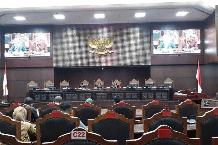 Sidang pendahuluan uji materi UU Pilkada di Mahkamah Konstitusi (MK), Rabu (11/3/2020).